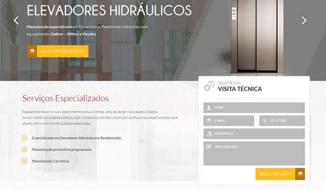 Portfolio Site Bauru Elevadores